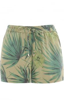 KOCCA bermuda con estampado tropical color verde