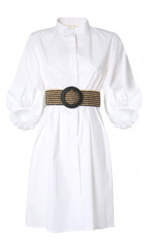 KOCCA vestido algodón abullonado