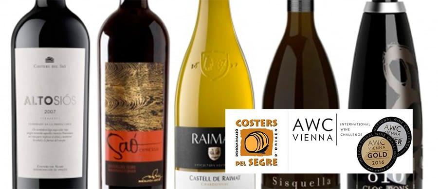 8 Medallas AWC Viena para los vinos de la DO Costers del Segre