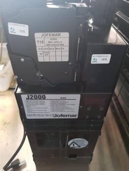 LOTE 10 MONEDEROS VENDING NUEVO JOFEMAR J2000 EXE/MDB CON VALIDADOR T15 - 2