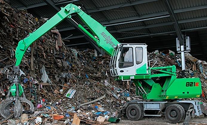 Nueva Sennebogen 821 serie E, para expertos del reciclaje