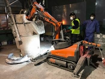 Probamos con éxito los robots Husqvarna en fundiciones y acerías