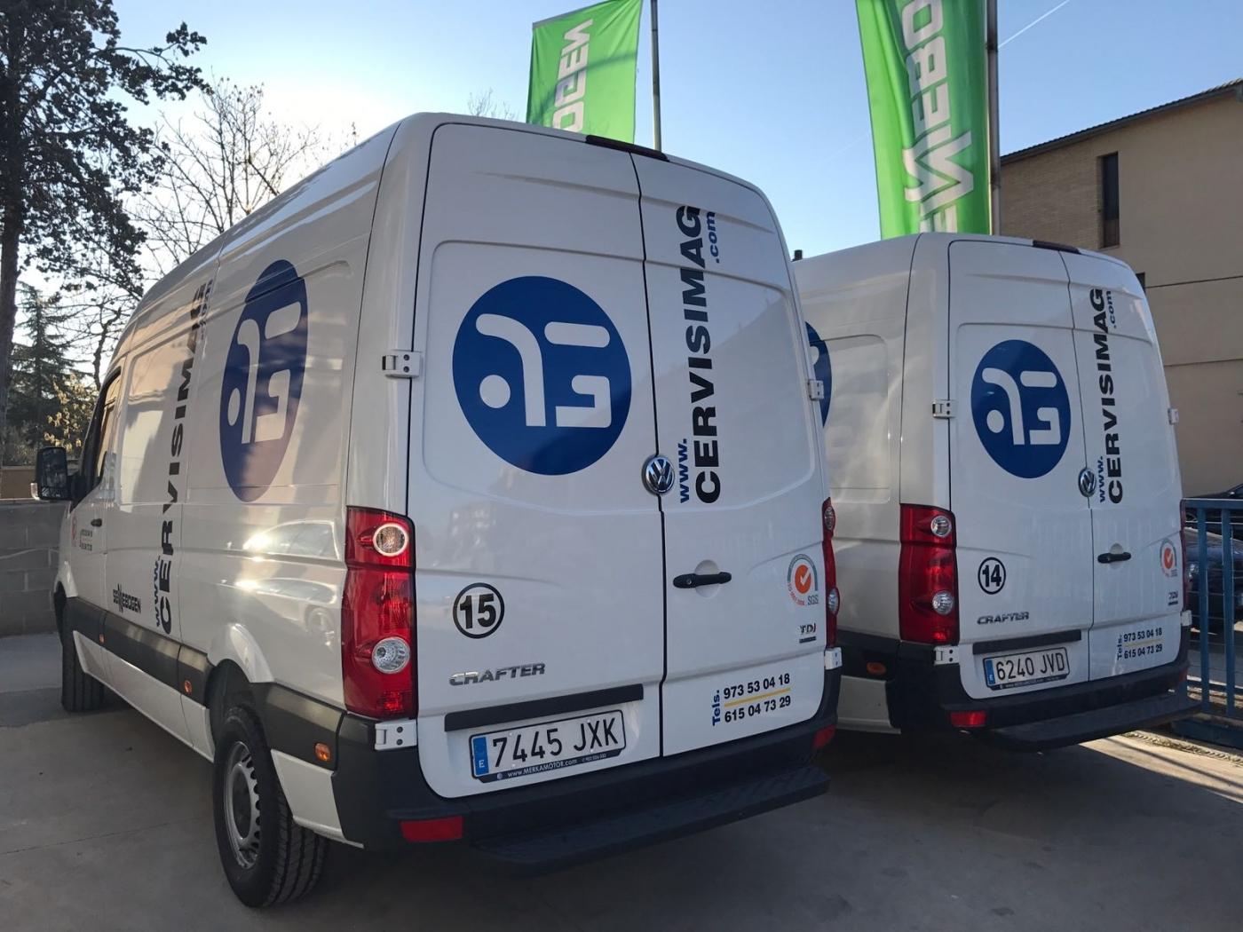 Cervisimag incorpora dos técnicos y dos furgonetas taller