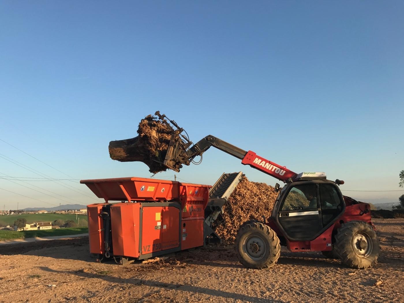 ARJES VZ-750: la mejor solución para el reciclaje de tocones y poda
