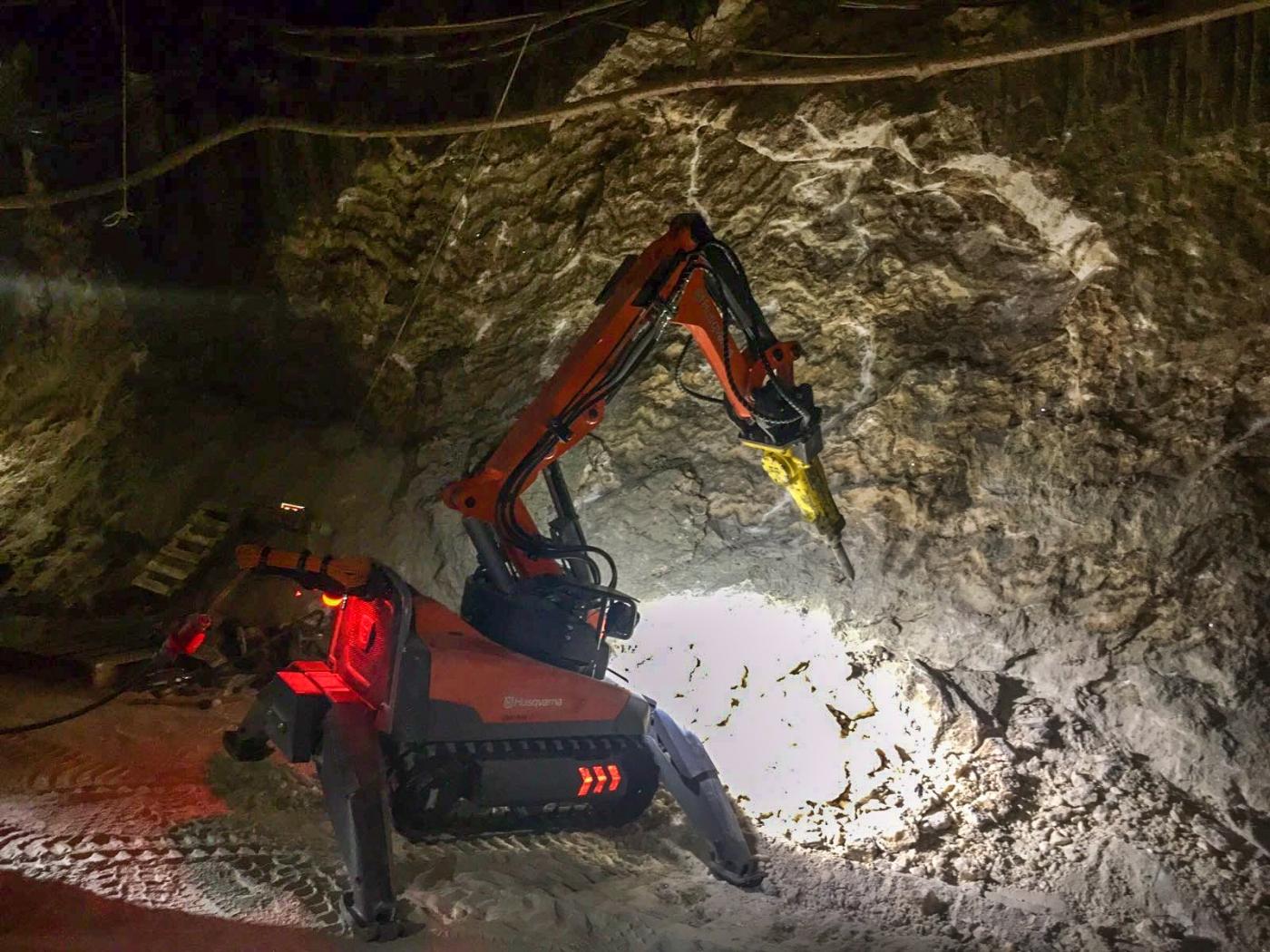 Nos adentramos en los túneles mineros con los robots Husqvarna