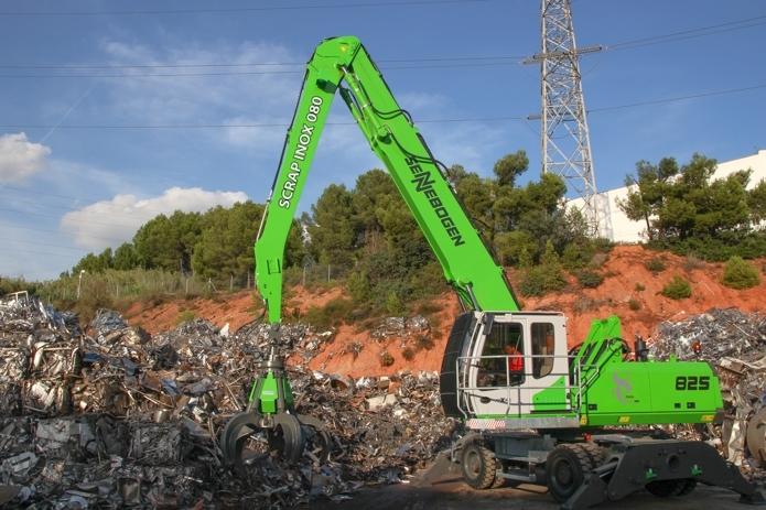Entregada una Sennebogen 825M a Scrap Inox 080