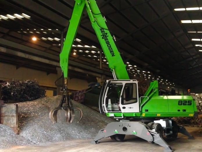 GESCRAP valora la robustez y capacidad de carga de su nueva Sennebogen 825