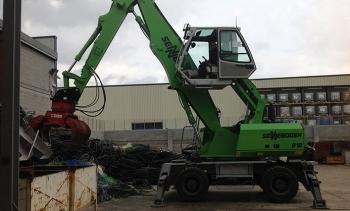 Nueva entrega de una máquina Sennebogen 818 M para el reciclaje de cables