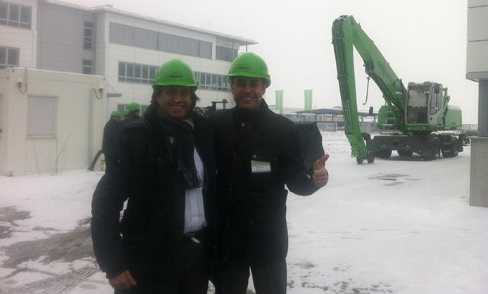 El equipo directivo de Cervisimag visita las fabricas de Sennebogen en Alemania