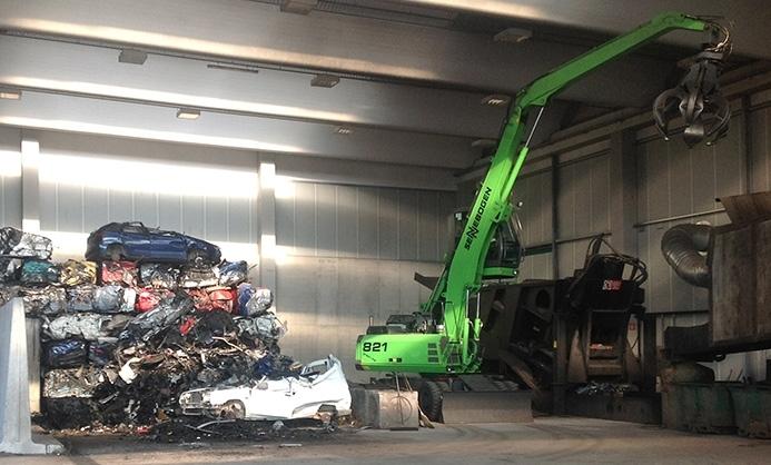 El reciclaje de coches en la empresa Bresolín