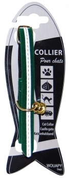 COLLAR GATO REFLECTIVE VELVET LABEL VERDE