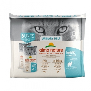 CAT WET HOLISTIC MULTIPACK URINARY PESC Y POLLO
