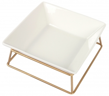 SOPORTE METAL Y COMEDERO SIMPLE BRONZE