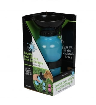 BEBEDERO CON BOL INTEGRADO AZUL 500ML