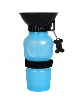 BEBEDERO CON BOL INTEGRADO AZUL 500ML - 1