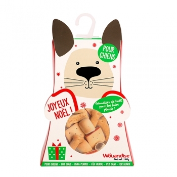 CHRISTMAS SNACKS DOG BOX 100G
