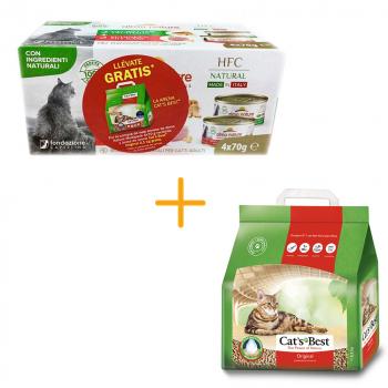 ¡OFERTA! MULTIPACK ALMO NATURE + CAT'S BEST 2,1kg GRATIS - 1