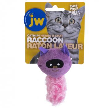 JW CATACTION CATNIP RACCOON PURPLE