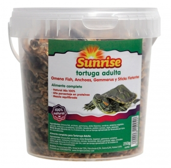 SUNRISE TORTUGA ADULTA OMENA, ANCHOAS, GAMMARUS,STICKS