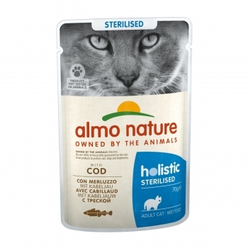 CAT WET HOLISTIC STERILISED 70G