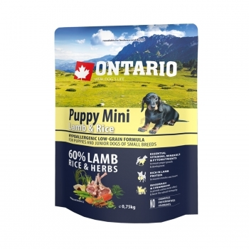 ONTARIO PUPPY MINI LAMB & RICE - 1