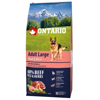 ONTARIO ADULT LARGE BEEF & RICE - 1