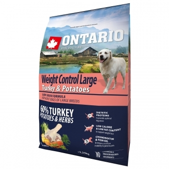 ONTARIO ADULT LARGE WEIGHT CONTROL TURKEY & POTATOES