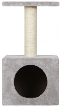 RASCADOR CAT TREE KITTY KENNEL+TRAY GRIS
