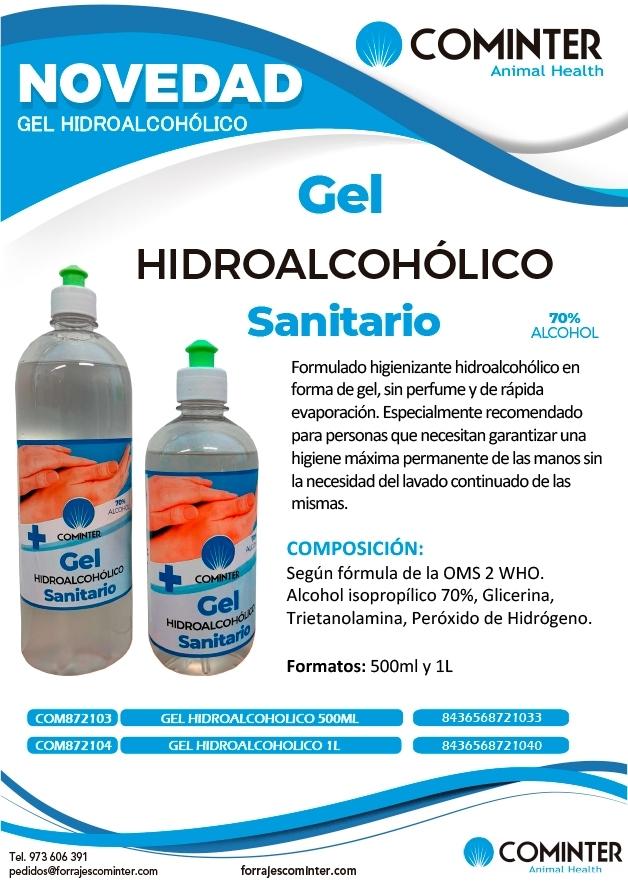 Nuevo gel hidroalcohólico cominter