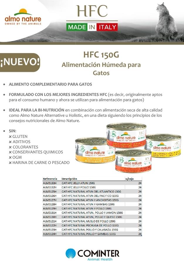 Nueva alimentación húmed HFC 150 gr gatos almo nature