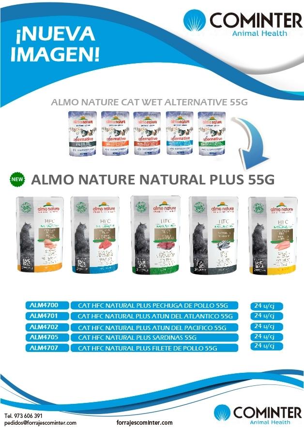 Nueva imagen alimentación húmeda almo gatos nature pouch plus