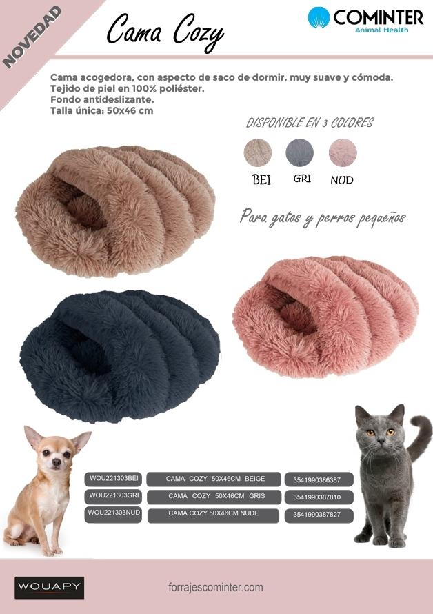 Nuevas camas perros y gatos Cozzy Wouapy