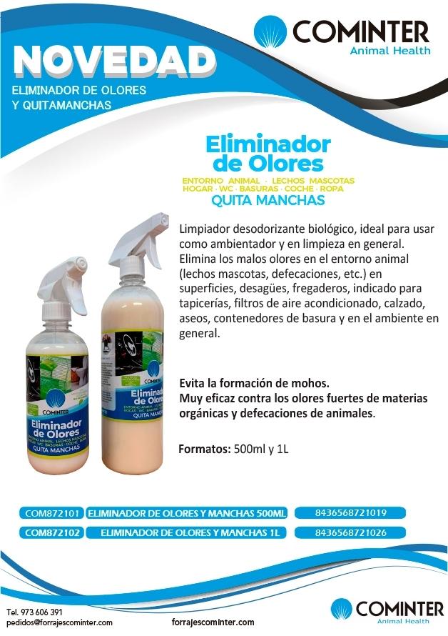 Eliminador de olores y manchas Cominter