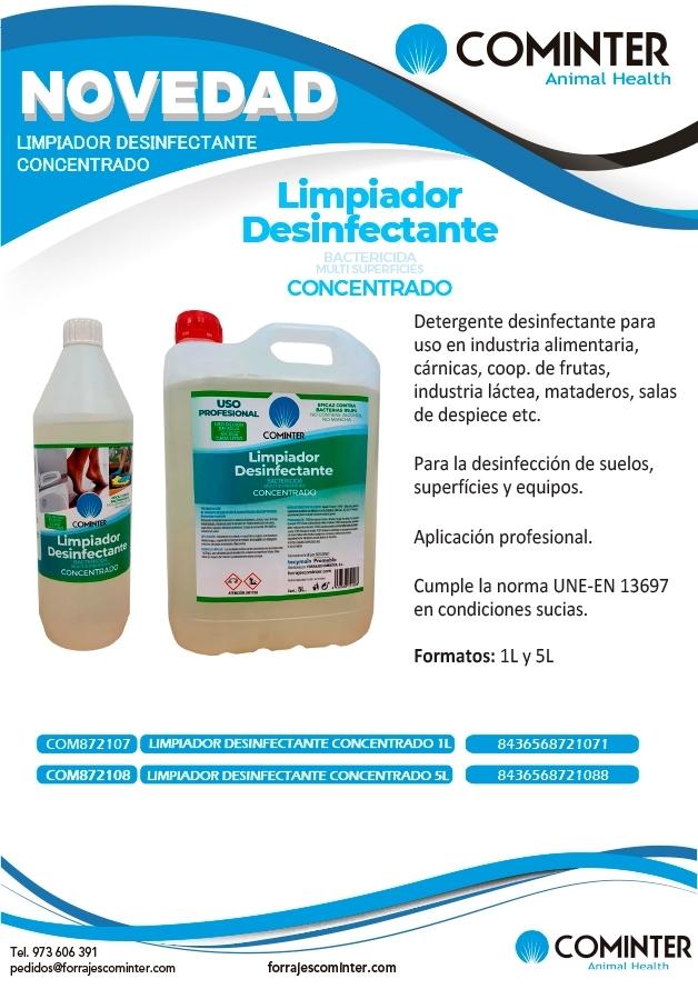 Limpiador desinfectante concentrado Cominter