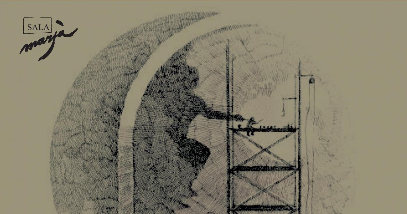 La Sala Marsà de Tàrrega acull fins al 16 de maig una exposició que s'endinsa en la creació de la pintura al fresc de l'artista targarí Josep Minguell
