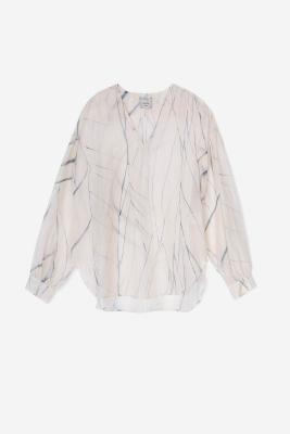 ALYSI Blusa de seda crudo con aguas - 5