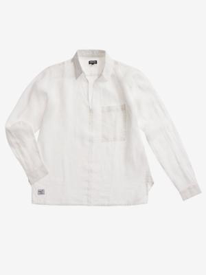 BLAUER Blusa blanca lino manga larba - 2