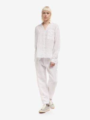 BLAUER Blusa blanca lino manga larba - 3