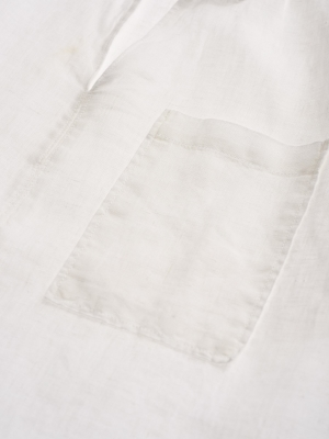 BLAUER Blusa blanca lino manga larba - 5