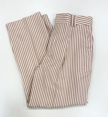 PT TORINO Pantalón ancho rayas color marrón - 2