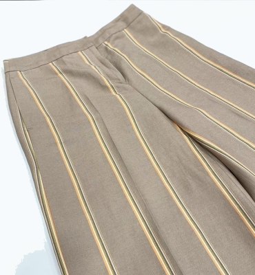 PT TORINO Pantalón ancho rayas color beig