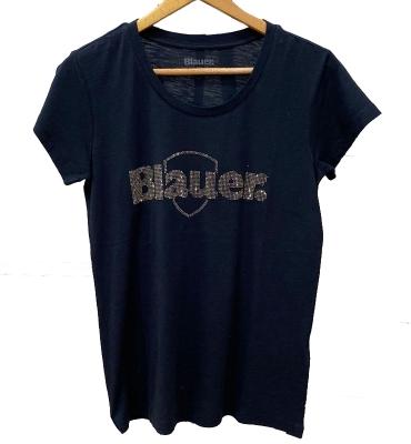 BLAUER Camiseta manga corta con logo de Strass - 2