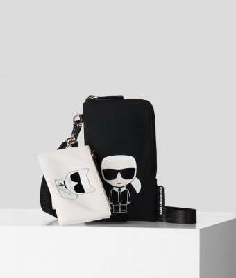 KARL LAGERFELD-DOUBLE POUCH