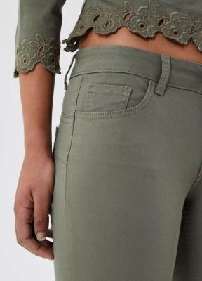 LIU JO pantalón tobillero con bordado - 3