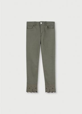 LIU JO pantalón tobillero con bordado - 4