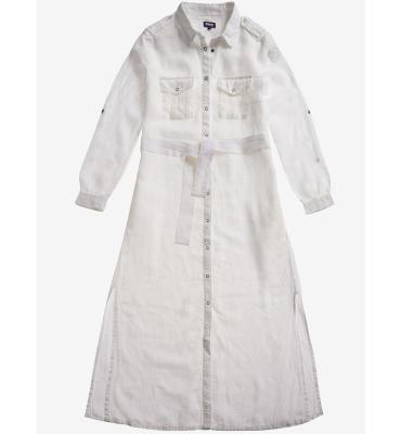 BLAUER Vestido de lino blanco - 1