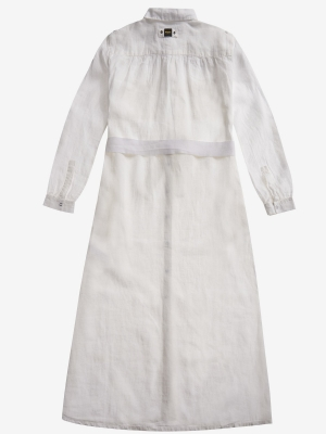 BLAUER Vestido de lino blanco - 2