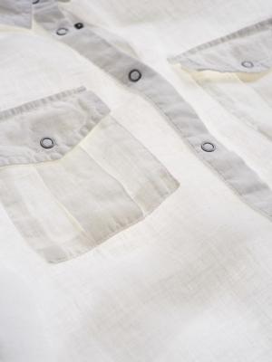 BLAUER Vestido de lino blanco - 4