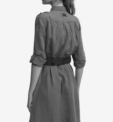 BLAUER Vestido de lino blanco - 6