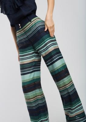 ALBA CONDE Pantalón de rayas - 2